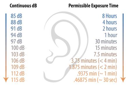 Decibel Exposure Guidelines