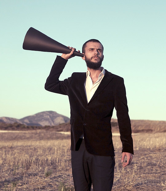 hearing loss, using megaphone to hear