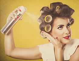Hearing aid maintenance - avoid hairspray